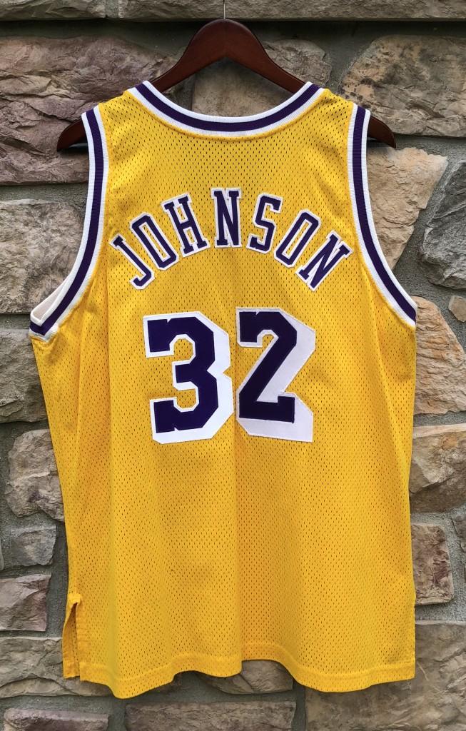 f079e83b7f8 1990 Los Angeles Lakers Magic Johnson Champion Authentic NBA Jersey size 44  large