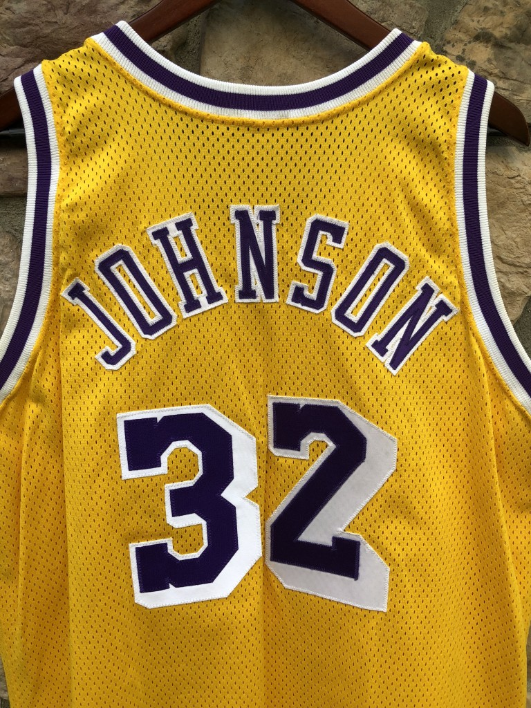 separation shoes 804eb c770d 1990 Magic Johnson Los Angeles Lakers Authentic Champion NBA Jersey Size 44
