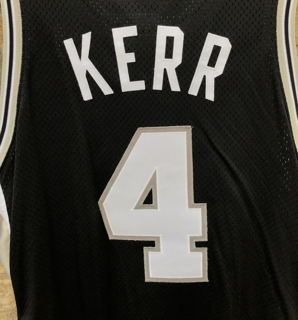 huge discount 7c620 7b925 1999 Steve Kerr San Antonio Spurs Pro Cut Authentic Nike NBA Jersey Size  44+2