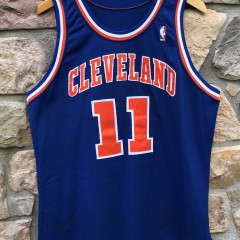 1993-94 Terrell Brandon Cleveland Cavaliers Game Worn Champion NBA jersey size 44+2 length