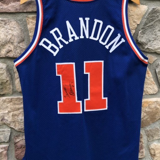 huge discount 36e55 a6ea5 1993-94 Terrell Brandon Cleveland Cavaliers Game Worn Champion NBA Jersey  Size 44+2