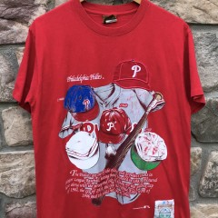 90's Philadelphia Phillies Cooperstown Collection T Shirt Size medium
