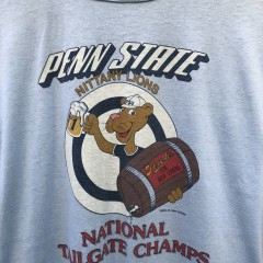 vintage 80's Penn State Nittany Lions National Tailgate Champs NCAA single stitch t shirt