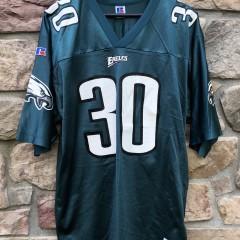 90s Philadelphia eagles charlie garner vintage russell nfl jersey size 48