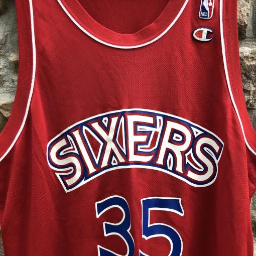 1995 Clarence Weatherspoon Philadelphia Sixers Champion NBA Jersey Size 48