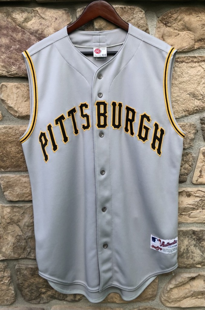 2001 pittsburgh pirates authentic rawlings mlb jersey size