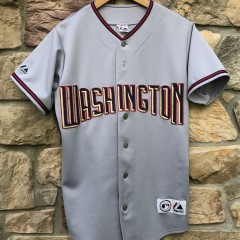 2006 Washington Nationals Grey Majestic MLB Jersey size medium