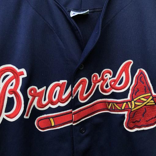 90's Atlanta Braves Majestic Navy Blue MLB Jersey size medium