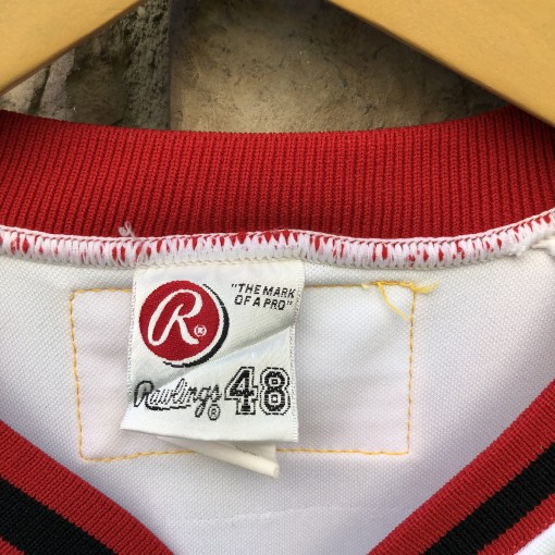 00s Game worn harrisburg senators minor league baseball jersey size 48 expos
