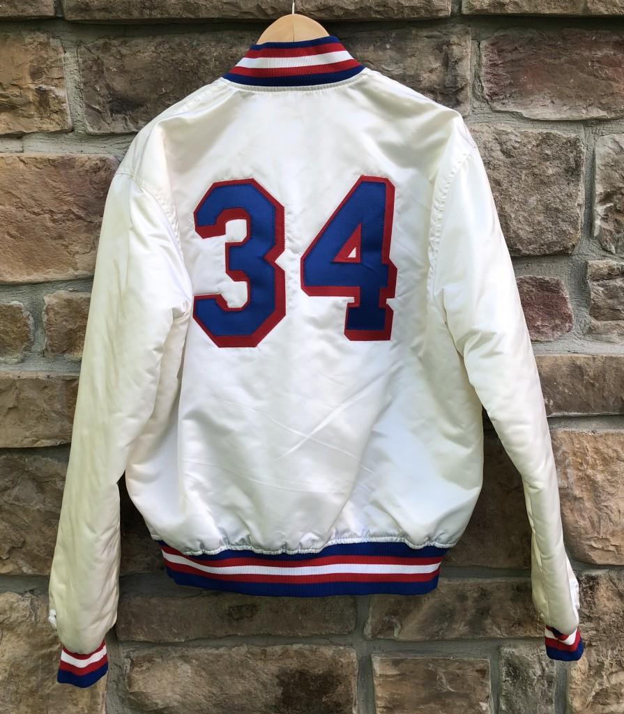 6d529744684 90 s Philadelphia Sixers  34 charles barkley white custom starter satin  bomber jacket size large