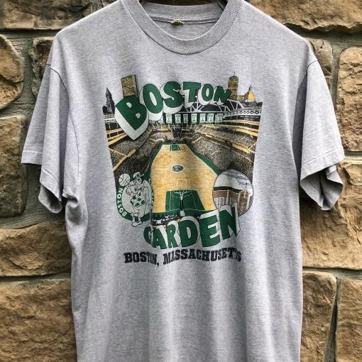 1988 Boston Garden Boston Celtics vintage screen stars NBA t shirt