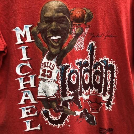 1990 Michael Jordan chicago bulls salem sportswear cartoon caricature nba t shirt vintage size medium