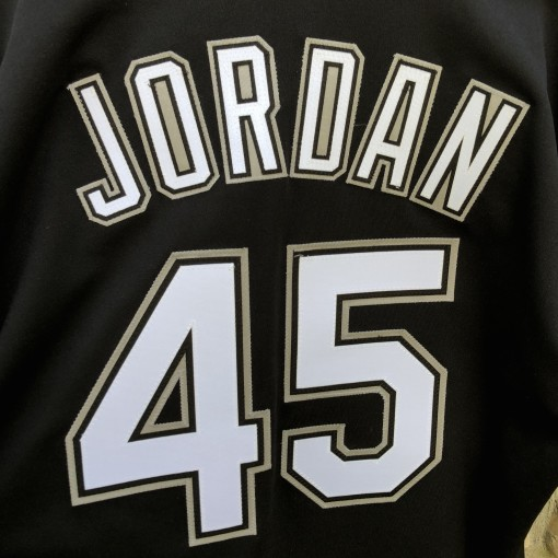 1994 Michael Jordan Chicago White Sox Authentic Russell Diamond Collection MLB Jersey size 44 large black
