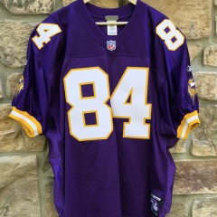2001 Randy Moss Minnesota Vikings Reebok Authentic Helmet Tag NFL jersey size 52