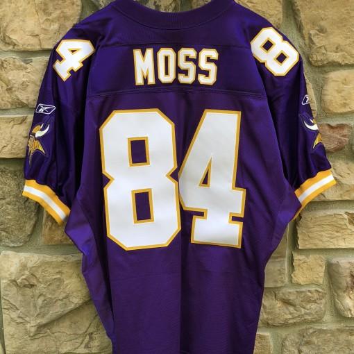 2001 Randy Moss Minnesota Vikings Reebok Authentic Helmet Tag NFL jersey size 52
