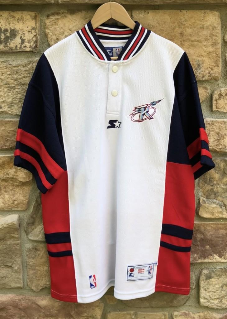 reputable site cf91d 9d19b 90's Houston Rockets Authentic Starter NBA Shooting Shirt Size Large