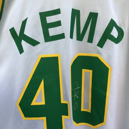 1993 Shawn Kemp Seattle Super Sonics Champion NBA Jersey size 48 autographed