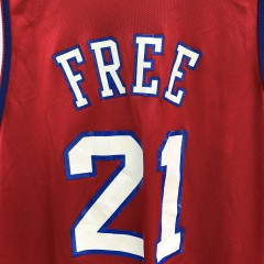 vintage Philadelphia Sixers World Be Free Champion NBA Jersey size 48 XL