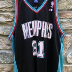 2001 Memphis Grizzlies Shane Battier Champion NBA Jersey size 48 XL