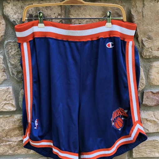 90's New York Knicks Champion Authentic NBA Shorts size 42 pro cut vintage