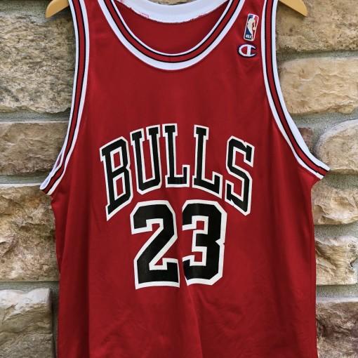 vintage 90's Michael Jordan Chicago Bulls Champion NBA jersey size 48 XL