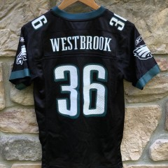 2005 Brian Westbrook Philadelphia Eagles reebok nfl jersey size youth medium