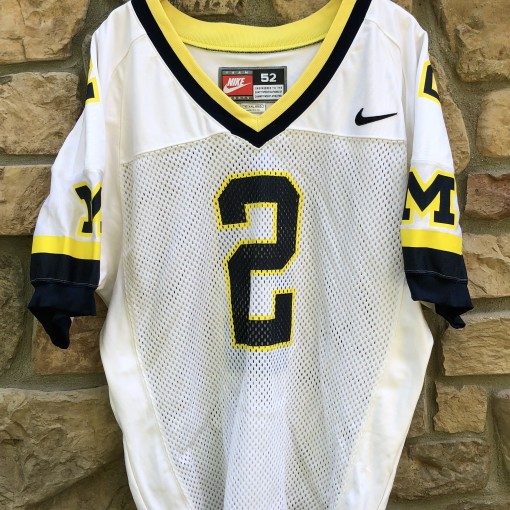 1997 Charles Woodson Michigan Wolverines Nike Authentic NCAA football jersey vintage