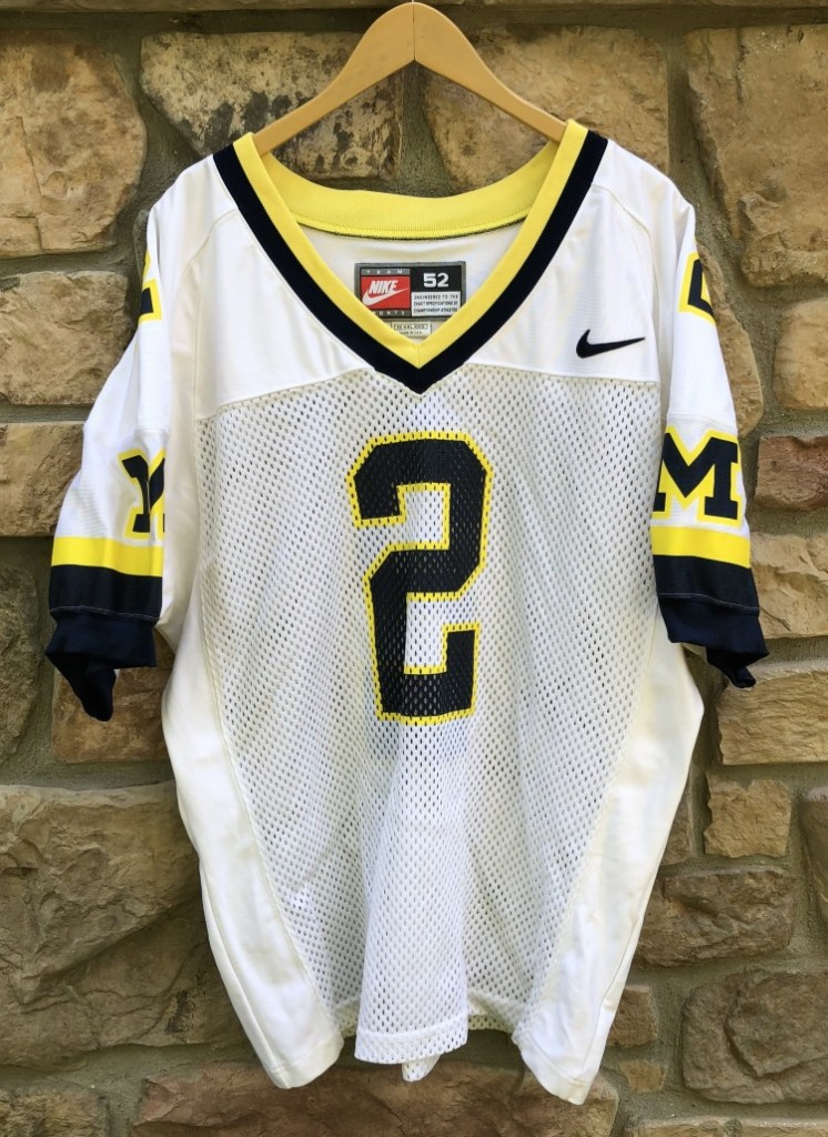 1997 Charles Woodson Michigan Wolverines Nike Authentic NCAA football jersey  vintage 98b2022b0