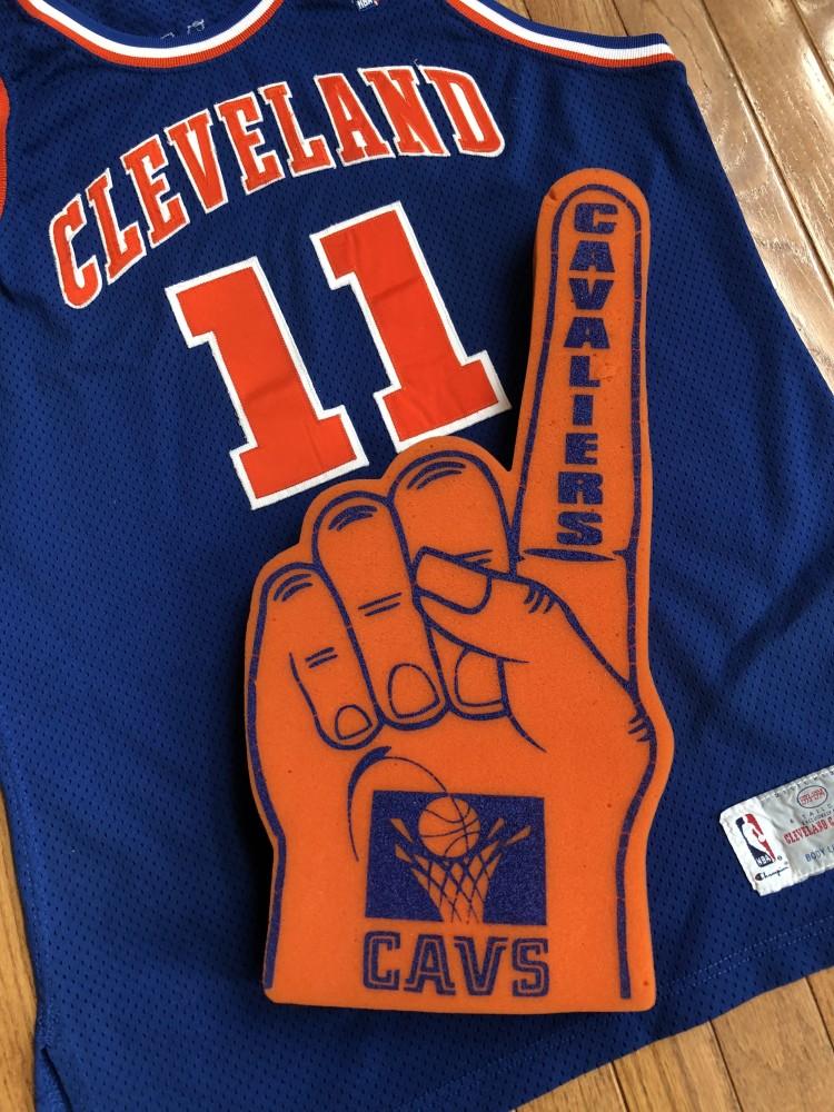 pretty nice 67d91 28ed0 90's Cleveland Cavaliers Orange NBA Foam Finger