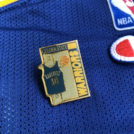 90's Golden State Warriors Tim Hardaway NBA Jersey Lapel Pin