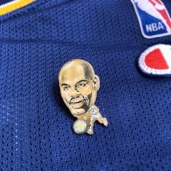 90's Latrell Sprewell Golden State Warriors Pin Heads NBA lapel Pin