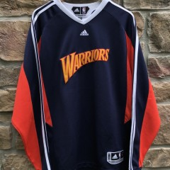 00's Golden State Warriors authentic Adidas NBA Shooting shirt size large