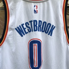 2009 Russell Westbrok Oklahoma City Thunder Adidas Swingman NBA  Jersey Size Large