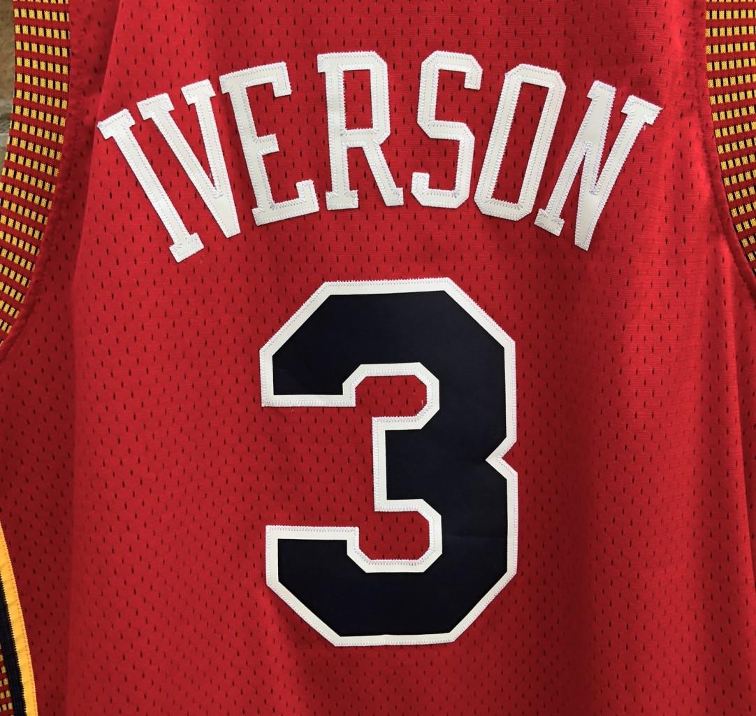 1e633a970280 2004 Allen Iverson Philadelphia Sixers 76ers Syracuse Nationals Hardwood  Classics Adidas NBA jersey size XL