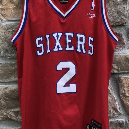 Philadelphia Sixers Moses Malone Reebok Hardwood Classics NBA Swingman Jersey size Medium