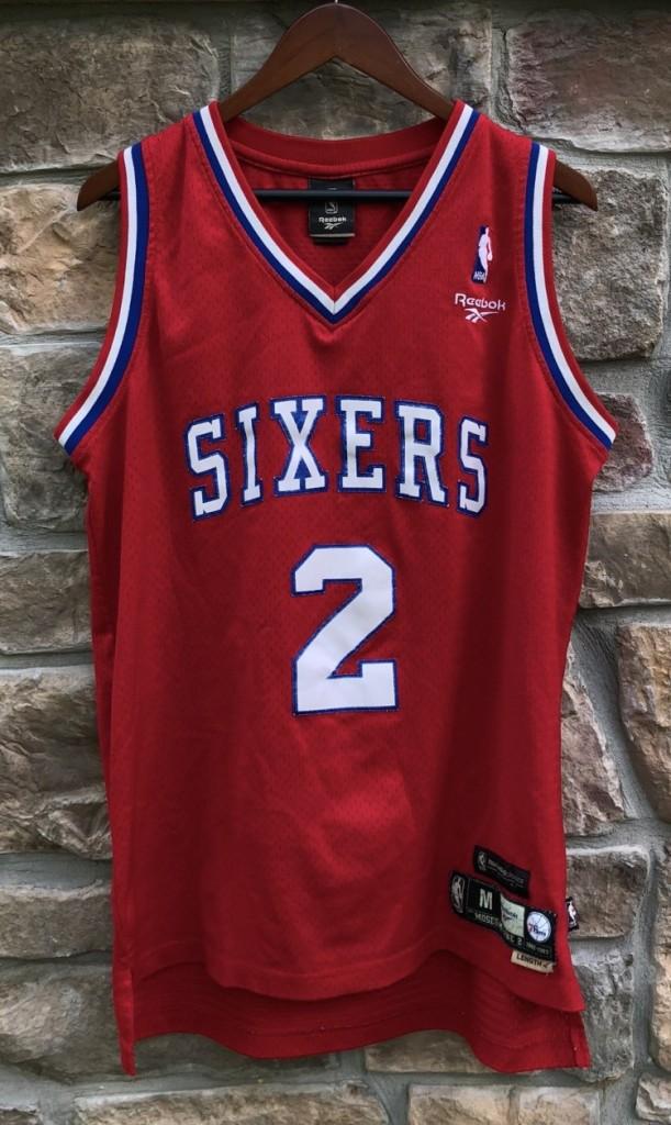 outlet store 1b747 40f0b 1983 Moses Malone Philadelphia Sixers Reebok Swingman NBA Jersey Size Medium