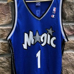 2001 Orlando Magic Tracy McGrady Champion NBA Jersey size 44 Large