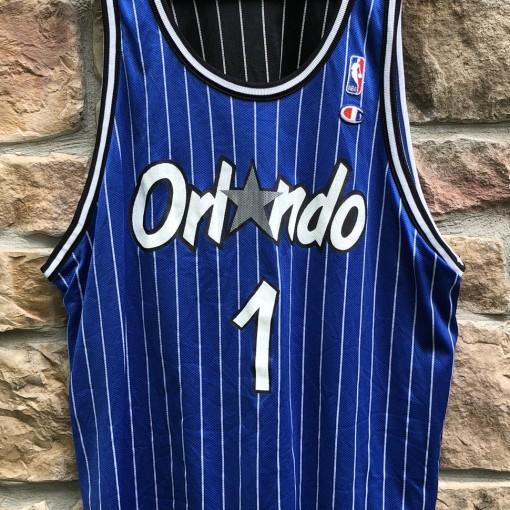 90's Orlando Magic Penny Hardaway Pinstripe champion nba jersey size 48 XL reversible
