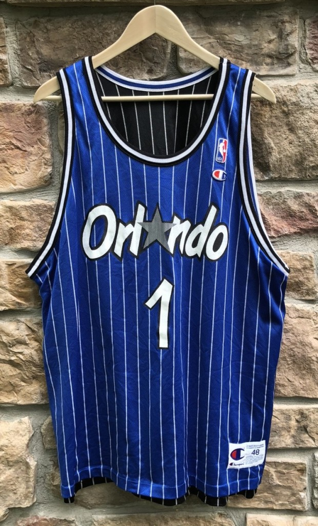 detailed look 0bce5 24026 1995 Penny Hardaway Orlando Magic Reversible Champion NBA Jersey Size 48