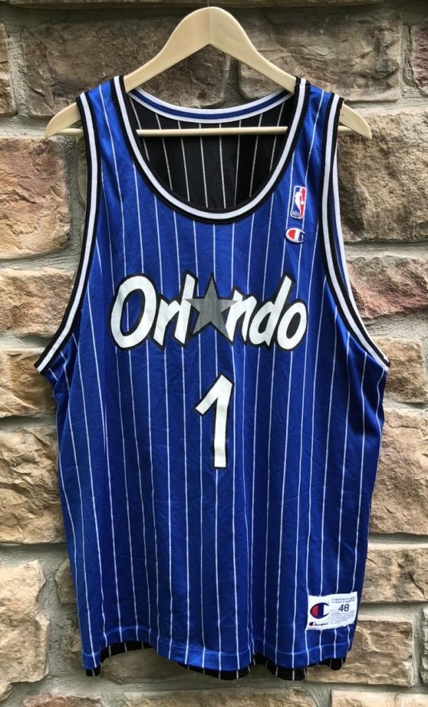 56c3374e4db 90 s Orlando Magic Penny Hardaway Pinstripe champion nba jersey size 48 XL  reversible