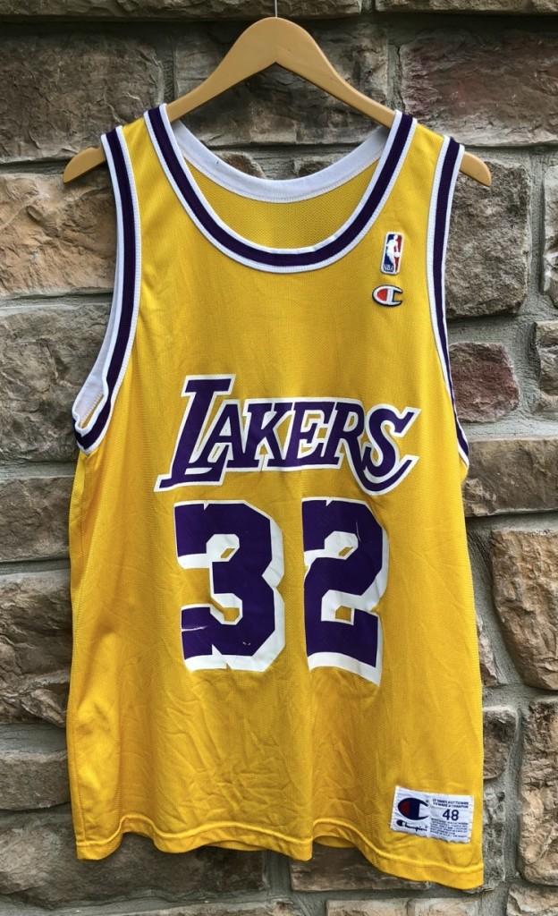 314275d9994 1991 Magic Johnson Los Angeles Lakers Champion NBA Jersey Size 48 ...
