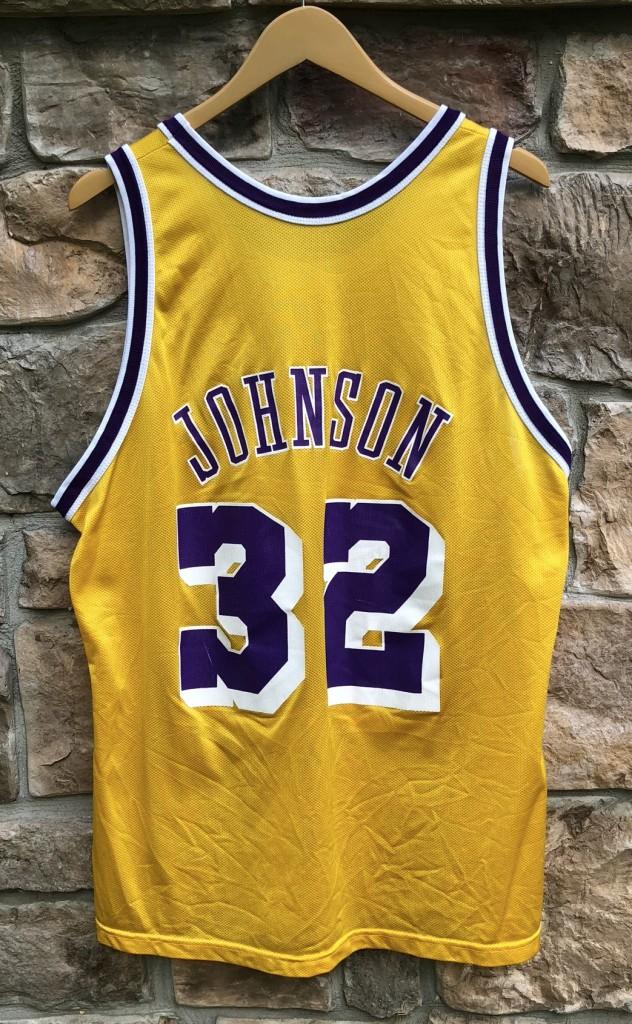 34ce838b783 1991 Magic Johnson Los Angeles Lakers Champion NBA Jersey Size 48 ...