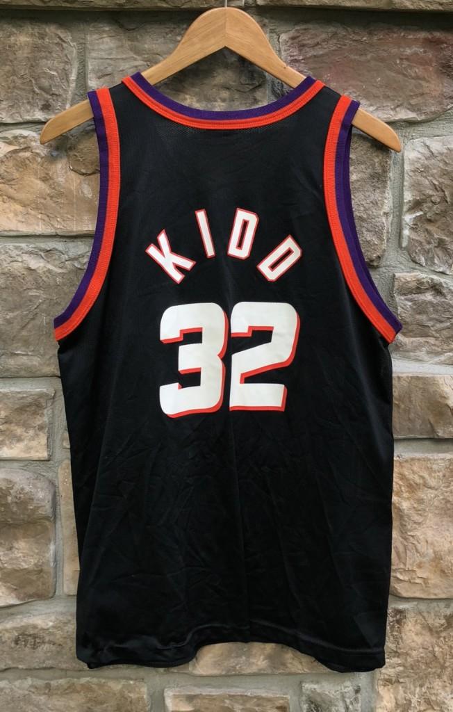 a7680693e5c6 1997 Jason Kidd Phoenix Suns Black Alternate Champion NBA Jersey ...