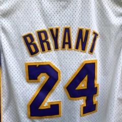 2008 Los Angeles Lakers Kobe Bryant Adidas Swingman NBA jersey white alternate youth size Xl