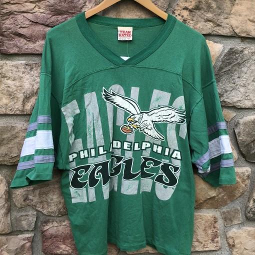 90's Philadelphia Eagles Kelly Green Team rated nfl t shirt size medium