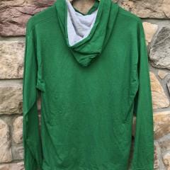 90's Philadelphia Eagles Kelly Green vintage The Game Hooded t shirt