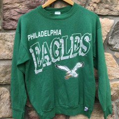 90's vintage Philadelphia Eagles kelly green logo 7 nfl crewneck sweatshirt