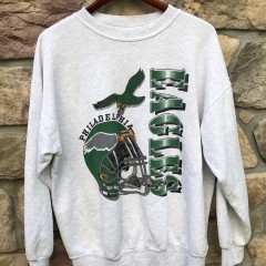 90's Philadelphia Eagles vintage kelly green crew neck sweatshirt