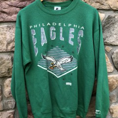 90's Philadelphia eagles starter vintage kelly green nfl crewneck sweatshirt size large