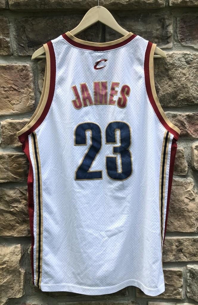 05d75e96fa67 2003 LeBron James Cleveland Cavaliers White Nike NBA Swingman Jersey ...